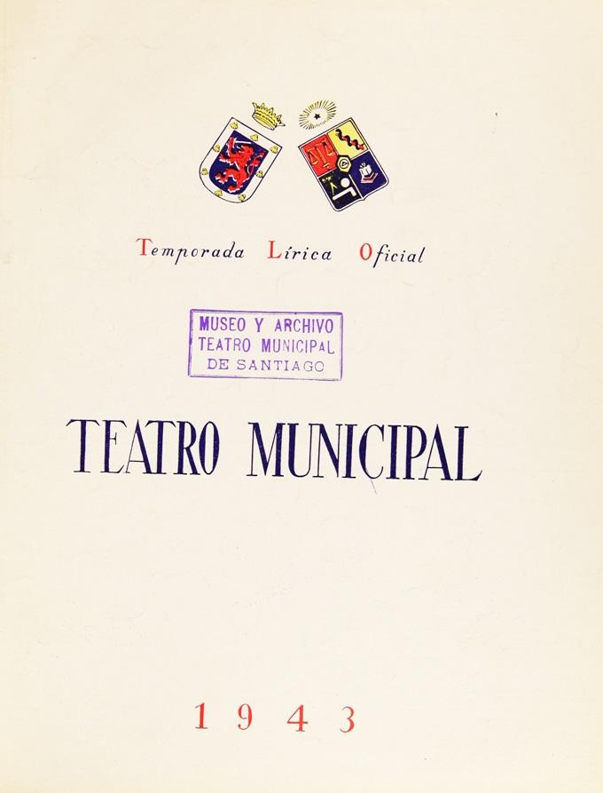 Portada de un programa de sala de la Temporada Lírica Oficial de 1943