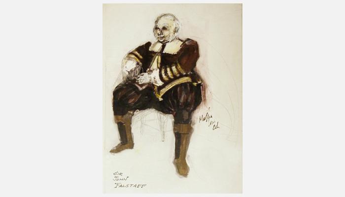 Boceto de Falstaff, diseñado por Holly Haas para una producción de 1967