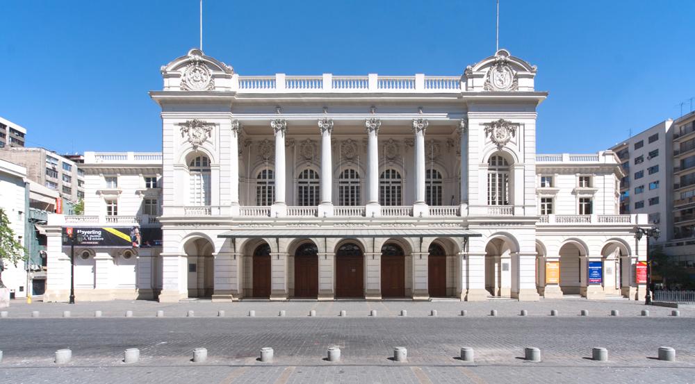 Fachada actual del Teatro Municipal de Santiago